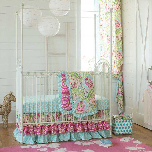 Carousel Designs Kumari Garden 3-Piece Crib Bedding Set: