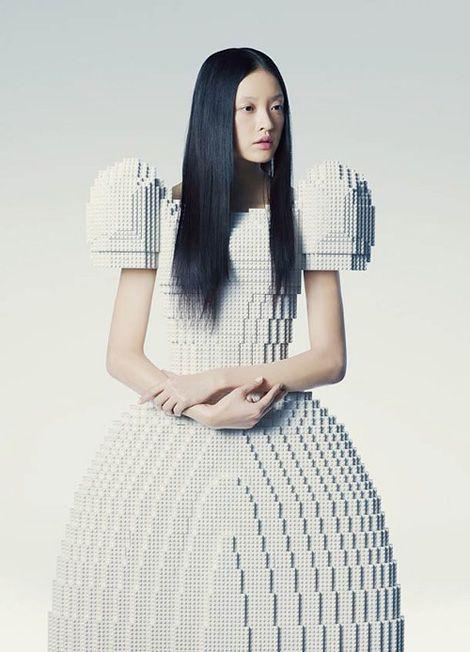 Lego Wedding Dress Created by Rie Hosokai.