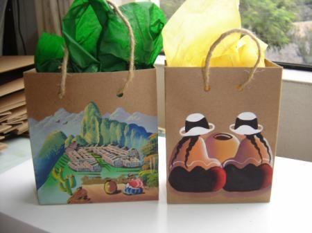 bolsas, ecologigicas, pintadas a mano  , navidad 2011 bolsas  ecologicas  navidad 2011 papel ecologico,acrilicos pintado a mano