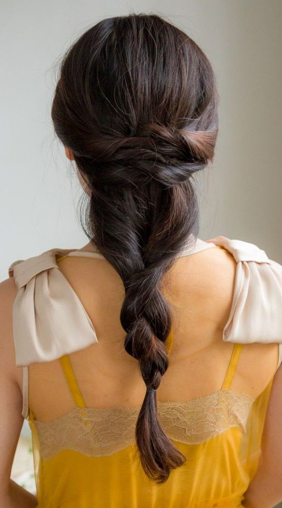 Finished bridesmaid braid. Inspired by L'Oreal Advanced Hairstyles