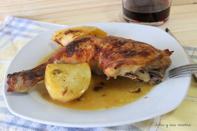 Pollo con cerveza sin gluten y naranja