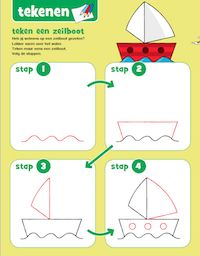 Bobo tekenles - Zeilboot