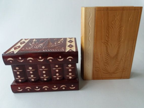 Special set of beautiful cherry color jewelry box case,surprise magic puzzle box,and cherry wood puzzle magic book with secret compartment