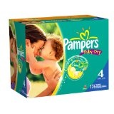 Pampers Baby Dry Diapers Economy Plus Pack, Size 4, 176 Count (Health and Beauty)By Pampers