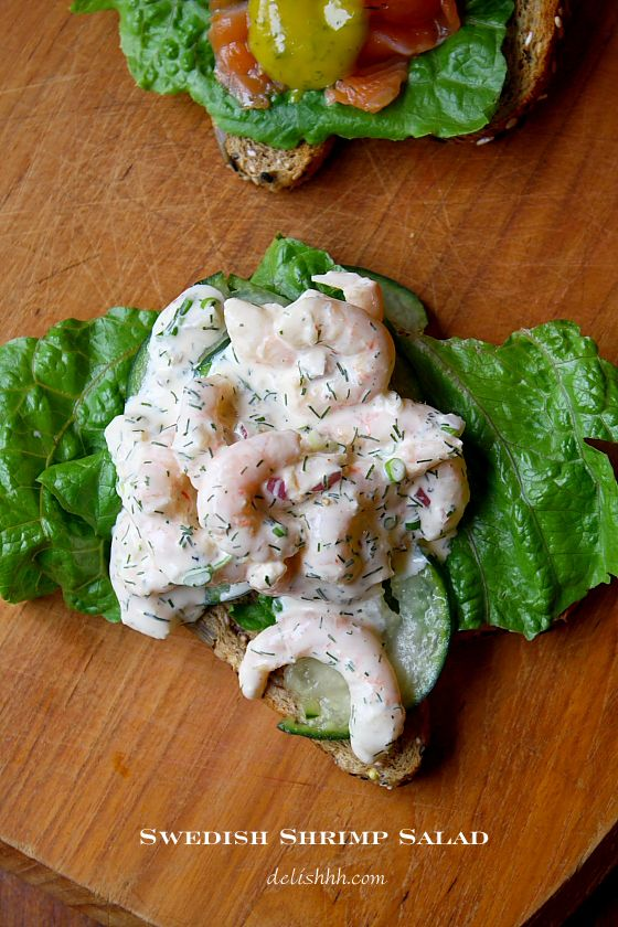 Swedish Shrimp Salad also called Skagenröra - Carrots and Spice