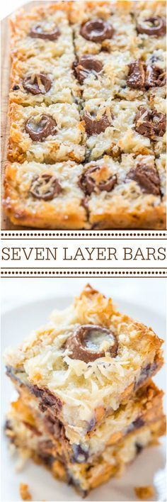 Seven Layer Bars - The classic bars everyone loves but with Rolos! Caramel just makes everything better!! Fast, easy, and always a hit!! #FourthofJuly #LaborDay parties