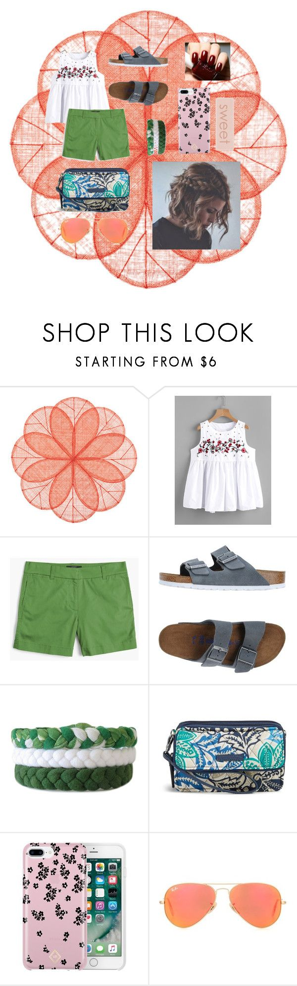 """Untitled #72"" by darksundown ❤ liked on Polyvore featuring Deborah Rhodes, J.Crew, Birkenstock, Vera Bradley and Ray-Ban"