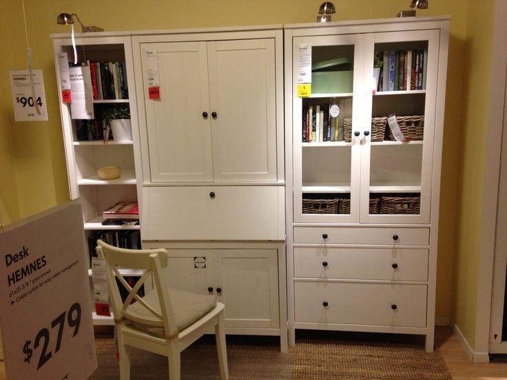 Bureau ikea hemnes blanc: hemnes desk with add on unit white stain