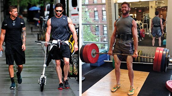 Bodybuilding.com - The True Beast Unleashed: How Hugh Jackman Became The Wolverine -workout routine on bottom