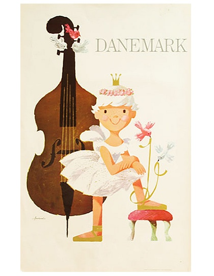 Danish vintage poster by Ib Antoni