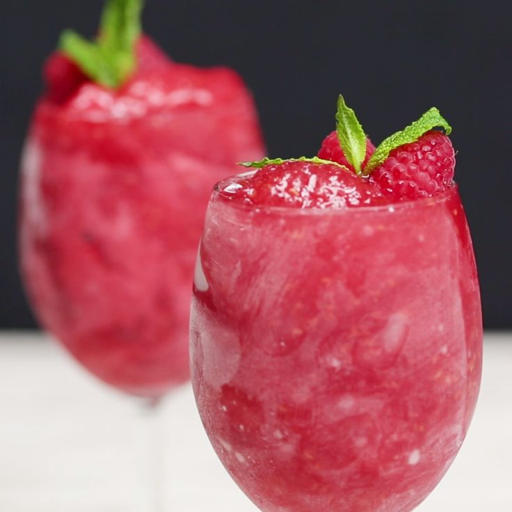 """This fruity, boozy sorbet gives a whole new meaning to """"dessert wine."""""""