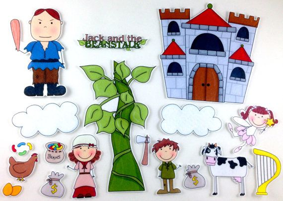 Use figures like this to create a mobile for Jack! Jack and the Beanstalk Felt Board Story Set by byMaree on Etsy, $20.00