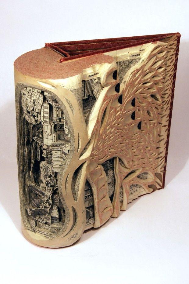 Drugie życie starych książek - sztuka | Designe