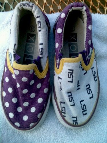 lsu slip on tennis shoes size 9