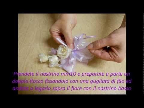 Confezionare Bomboniere Sacchetto tulle con petali
