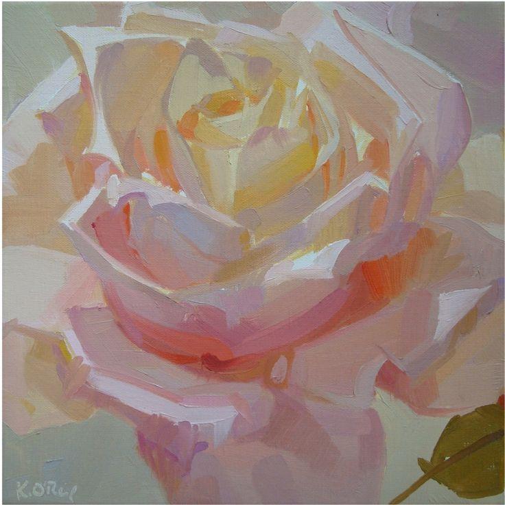 Karen O'Neil, February 14 series #2. Oil, 10 x 10 x 0.8 in