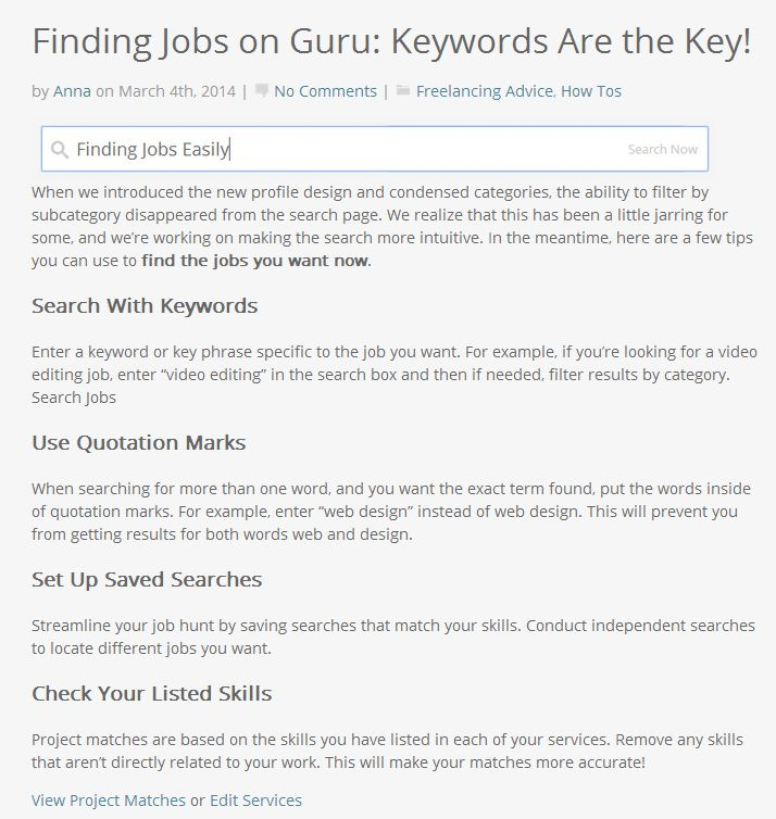 Having Trouble Finding Jobs On GuruCom Here Are  Tips You Can