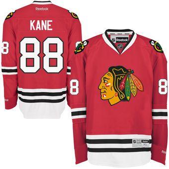 Men's Chicago Blackhawks Patrick Kane Reebok Red Home Premier Jersey