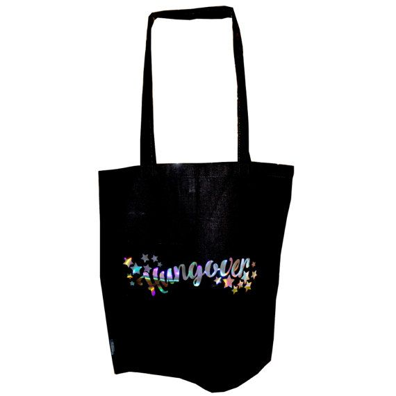 Extreme Largeness Hungover holografisch boodschappen (tote) tas zwart