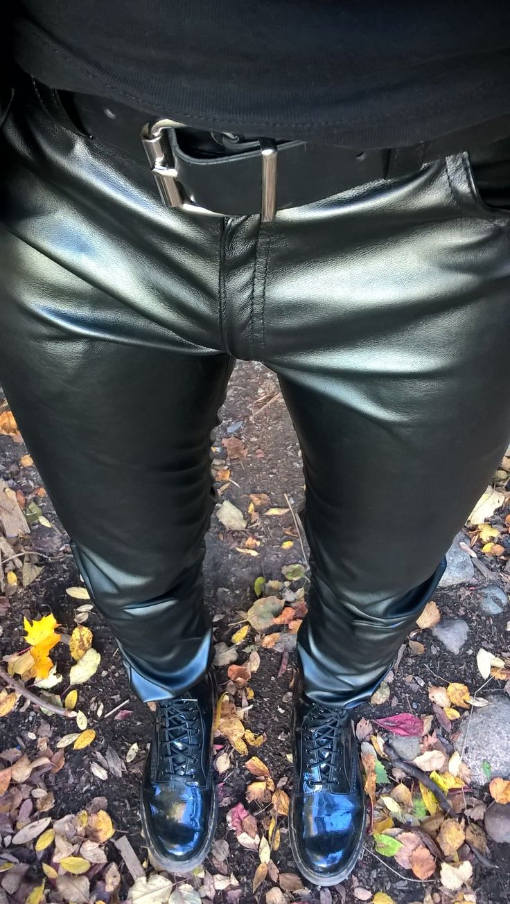 Faux leather pants by Magic Frog and patent leather Dr Martens boots