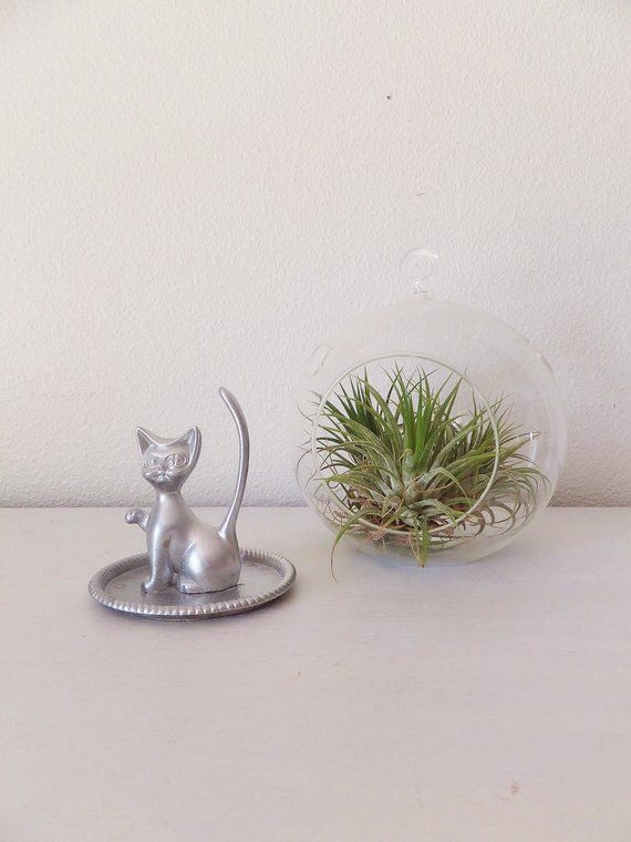 Vintage Cat Ring Holder Vtg 1960 S Cat Figurine Cat Ring Tree Ring Stand Jewelry Display Vintage 60 Cat Ring Cat Bedroom Vintage Cat
