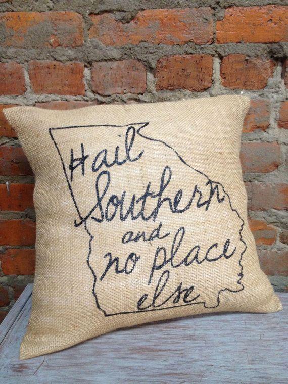 Sassy Smack Collegiate Burlap Pillow Case by JanaBelles on Etsy, $20.00