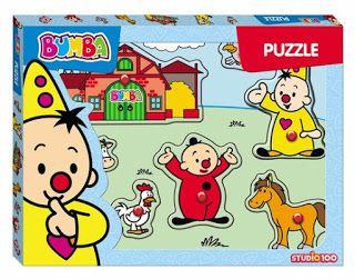 Speelgoed Reviews: Bumba houten puzzel met knopjes