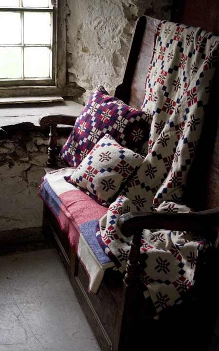 Contemporary Welsh wool blankets by Melin Tregwynt