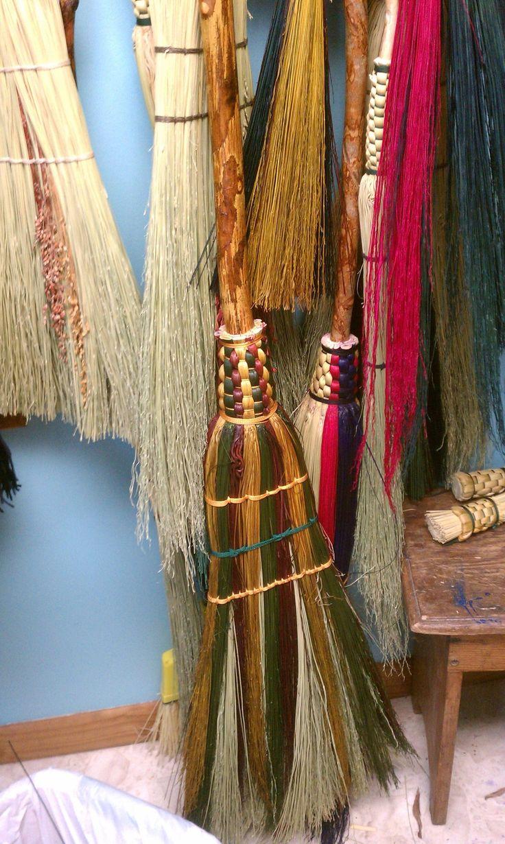 Dyed broom corn stalks