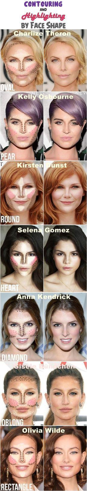 Tus actrices favoritas usan la técnica de maquillaje del momento. El Contouring. Mira cómo lo aplica cada una. Esto lo puedes lograr tu también usando un corrector un tono mas oscuro que tu piel para definir, un corrector un tono mas claro que tu piel para resaltar y el rubor adecuado según tu tono de piel para las mejillas
