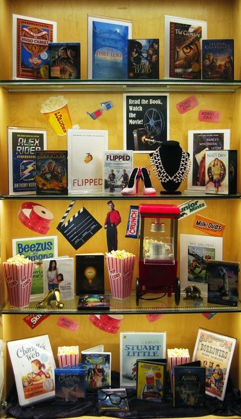 Read the Book, Watch the Movie | Library Book Display