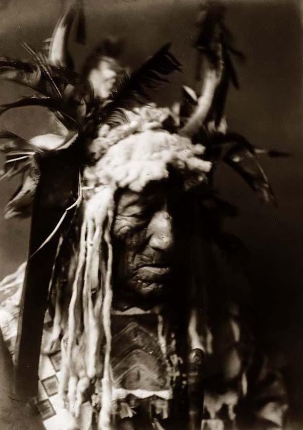 Lean Wolf. It was taken in 1908 by Edward S. Curtis.