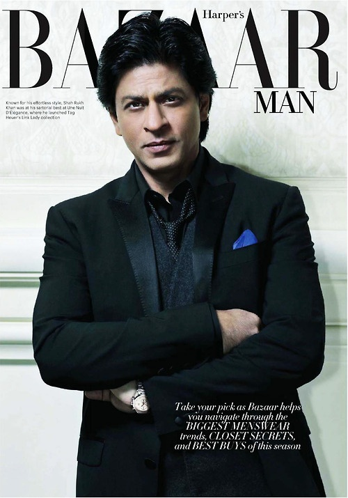 Shahrukh Khan - magazine cover Harper's Bazaar March 2013