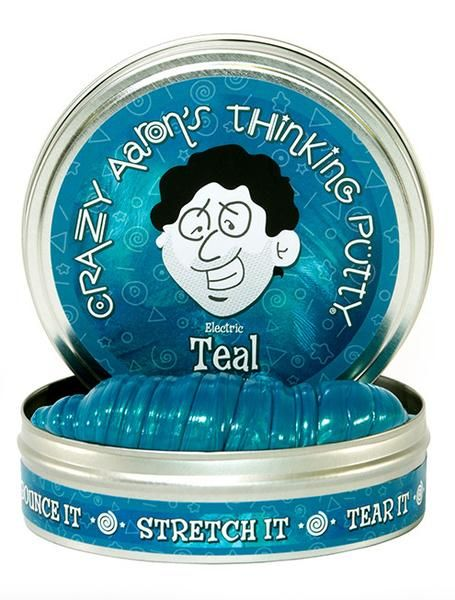 Crazy Aaron's Thinking Putty // Electric Teal