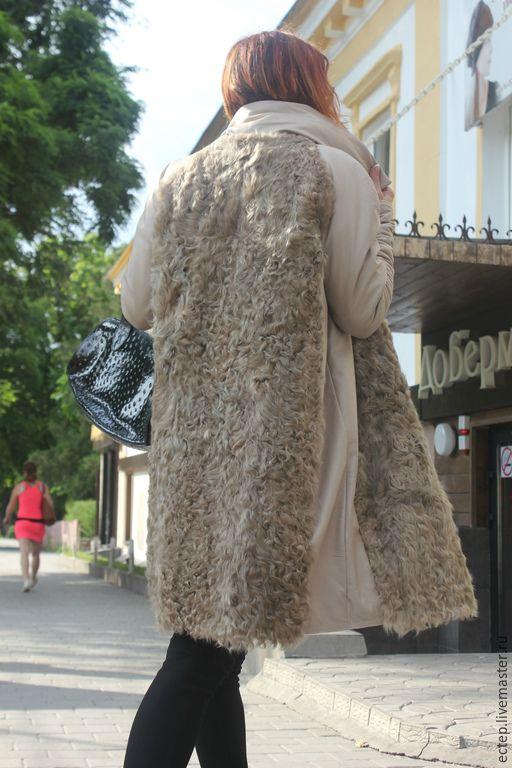 """Купить Шубка """"Бежевая"""" - куртка меховая, зимнее пальто, женское пальто, теплое пальто"""