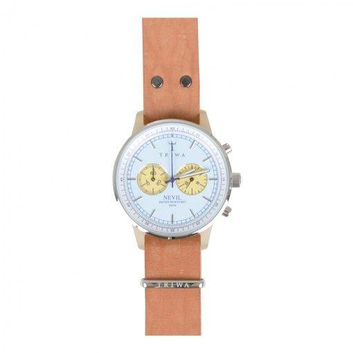 TRIWA ALABASTER NEVIL WATCH BLUE AND BEIGE. Get it here: http://www.fernerjacobsen.no/sortiment/herre/assessoirer/klokker/triwa-alabaster-nevil-watch-blue-and-beige  #watch #mensfashion