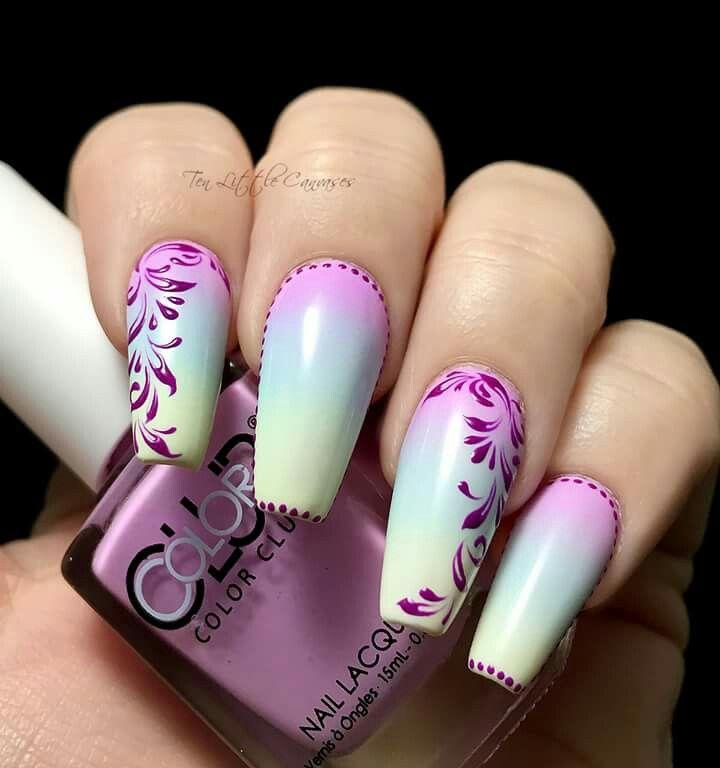 Gradient nailart