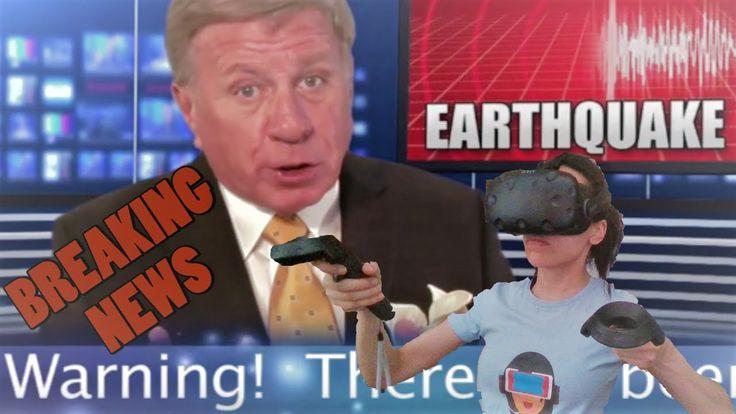 EARTHQUAKE SIMULATOR IN VIRTUAL REALITY! (HTC Vive Gameplay)