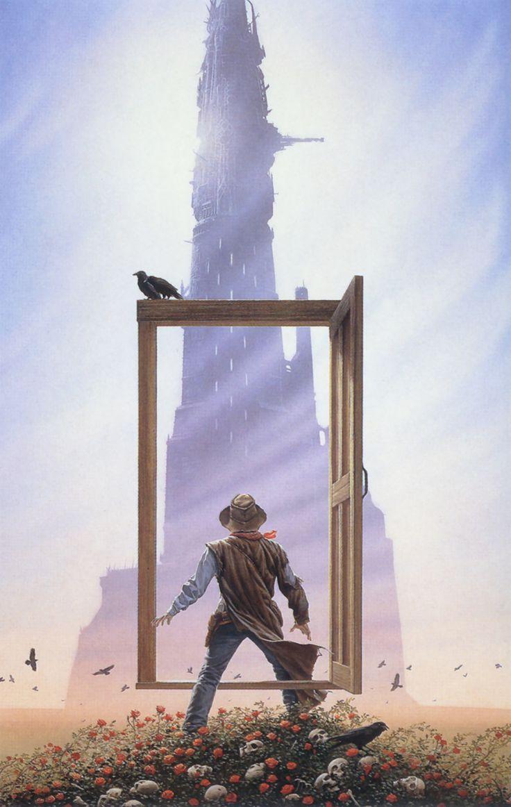 Ilustración de la saga de Stephen King La Torre Oscura, realizada por Michael Whelan. Con esta idea y la de la Tardis seran las bases para mi diseño del cartel.