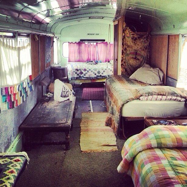Converted bus. Road trip style