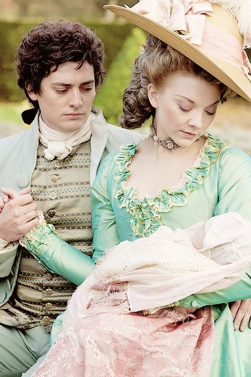 Natalie Dormer as Lady Seymour Worsley and Aneurin Barnard as Captain George Bisset in The Scandalous Lady W (2015)