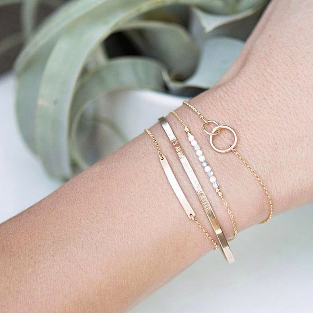 A cute 'lil stack of some of our newest bracelets :) The lineup: Unity Link, a…