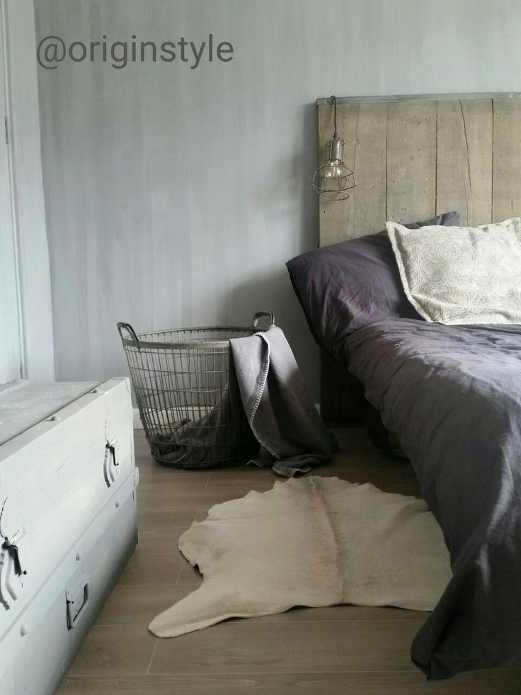 Stoere slaapkamer met steigerhout van Originstyle