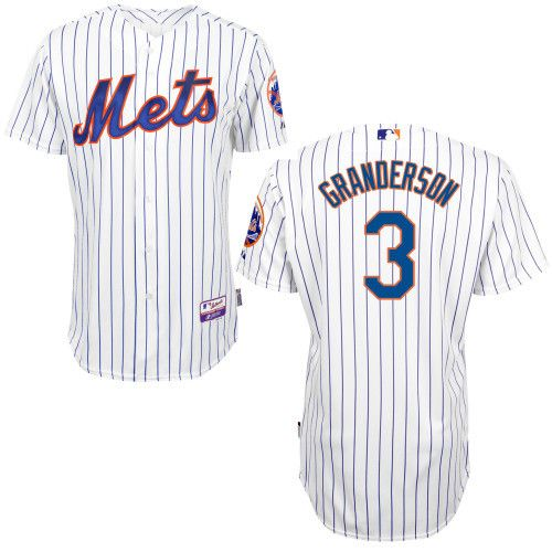 Features a full button front with the New York Mets decoration and trim Stitched jersey with Mets Logo and Granderson name and number on the back high quality production .100% polyester double-knit co
