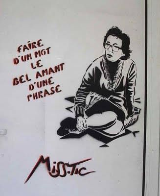 Marguerite Duras by Miss Tic - Rue Saint-Benoit, Paris