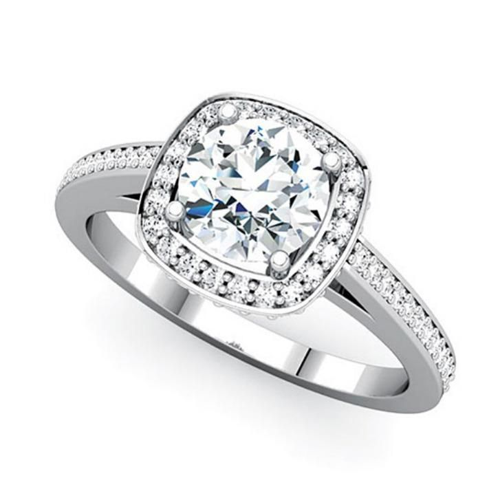 Simple Engagement Diamond Ring Images