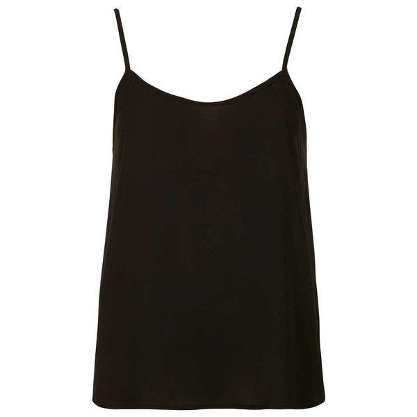 TOPSHOP Petite Strappy V-Neck Cami (€9,32) ❤ liked on Polyvore featuring tops, shirts, tank tops, blusas, cami, black, petite, petite shirts, v-neck shirt and strap shirt