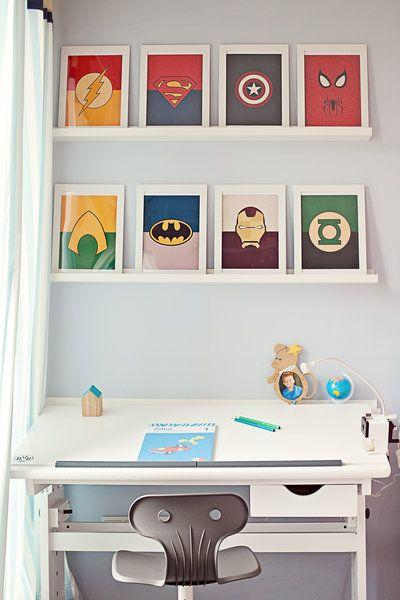 Superhelden Arbeitsplatz