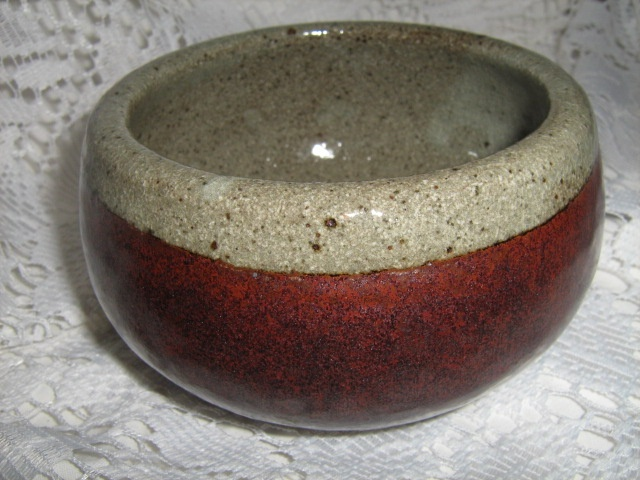 2007 - This was the very first glaze that I mixed (lower part of bowl)