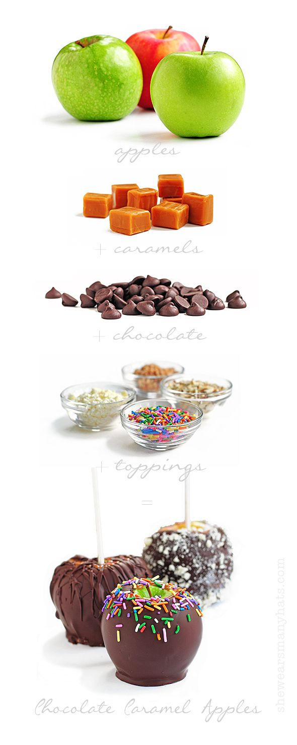 Perfect weekend project before #Halloween  Chocolate Caramel Apples  #food #Halloween